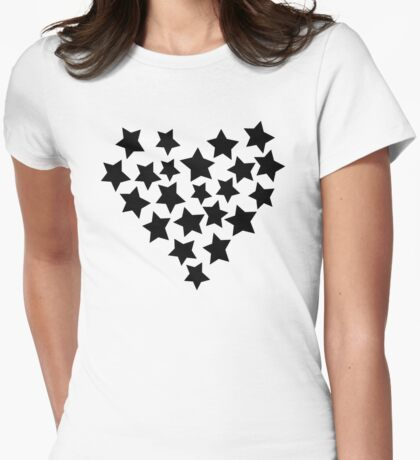 Star Heart Womens Fitted T-Shirt