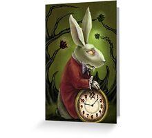 Vampire White Rabbit Greeting Card