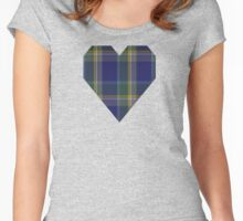 00182 Manx Hunting District Tartan  Women's Fitted Scoop T-Shirt