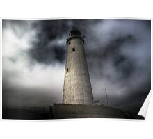 A stormy Light House Poster