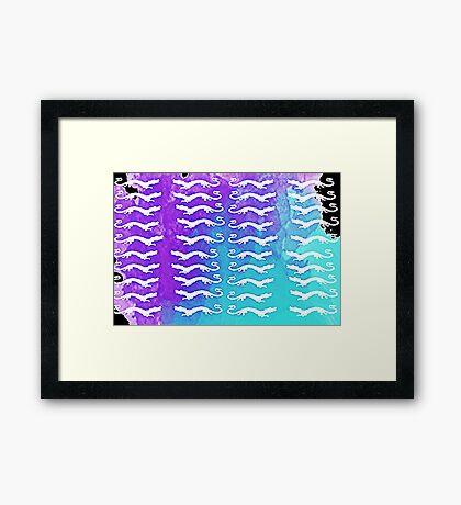 Falkor pattern  Framed Print