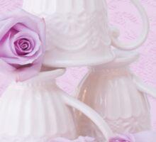 My Favorite Cream Lace Mugs Sticker