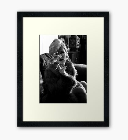 Furs and Cigarettes (ltd ed) Framed Print