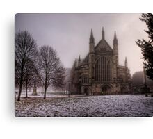 Winchester Cathedral in the Freezing Fog Canvas Print