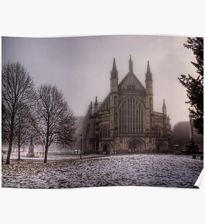 Winchester Cathedral in the Freezing Fog Poster