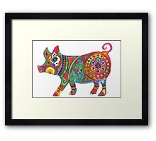 Bright Beautiful Pig! Framed Print
