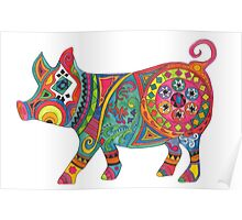 Bright Beautiful Pig! Poster