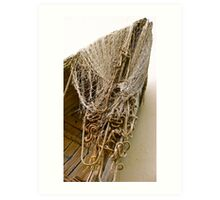 Nets and ropes Art Print