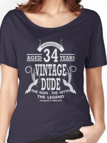 Vintage Dud Aged 34 Years Women's Relaxed Fit T-Shirt
