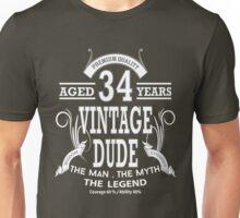 Vintage Dud Aged 34 Years Unisex T-Shirt