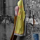 Fisherman's Raincoat Hanging - Puglia Italy by Debbie Pinard
