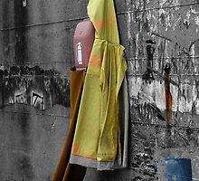 Fisherman's Raincoat Hanging - Puglia Italy by Debbie Pinard