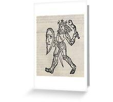 Hic Codex Auienii Continent Epigrama Astronomy Rufius Festivus Avenius 1488 Astronomy Illustrations 0131 Constellations Greeting Card