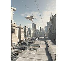 Future City Street Photographic Print