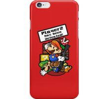 Mario Brothers: Player 2 has been defeated iPhone Case/Skin