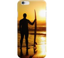A surfer watching the waves iPhone Case/Skin