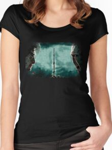 Harry Potter Vs Lord Voldemort Women's Fitted Scoop T-Shirt