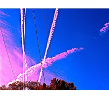 Sky Trails Photographic Print