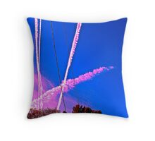 Sky Trails Throw Pillow