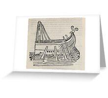 Hic Codex Auienii Continent Epigrama Astronomy Rufius Festivus Avenius 1488 Astronomy Illustrations 0179 Constellations Greeting Card