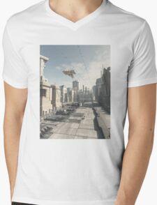 Future City Street Mens V-Neck T-Shirt