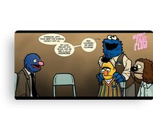 Remaining Muppets Together Canvas Print