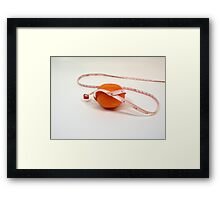 Orange on a diet Framed Print