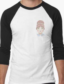60s Doll Pattern Men's Baseball ¾ T-Shirt