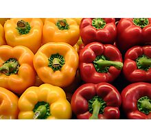 Red and yellow peppers Photographic Print