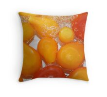 Cherry tomatoes in water Throw Pillow