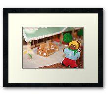 Gingerbread girl Framed Print