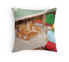 Gingerbread girl Throw Pillow