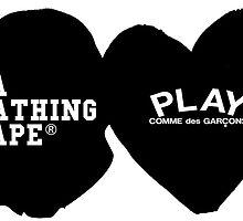 Comme des Garçons Play x Bape Design by Twins12100