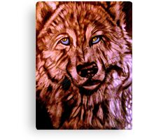 Wolf-The Blue Eyed Crooner Canvas Print