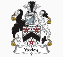 Coat of arms (family crest) for last-name or surname Yaxley . Heraldry banner for your name. by rita24
