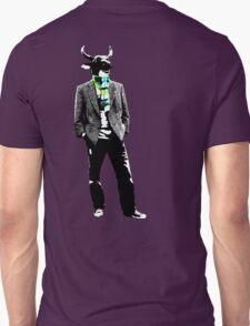 Cow Head on white Unisex T-Shirt