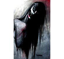 """Zombie Girl"" Dark Art by VCalderon Photographic Print"