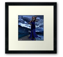 Come, walk the dock with me Framed Print