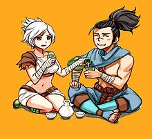League of Legends Riven/Yasuo HQ by Dhaxina