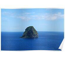 Rocher du Diamant (side view) - Martinique, F.W.I. Poster