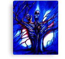 """Consciousness"" Abstract Skeleton Art by VCalderon Canvas Print"