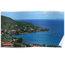 Petite Anse Fishermen Little Town - Martinique, F.W.I. Poster