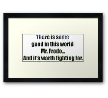 LOTR Sam's Speech Quote Framed Print
