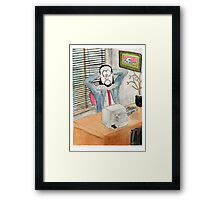 Shakespeare the office based playwright Framed Print