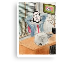 Shakespeare the office based playwright Canvas Print