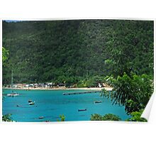 View of the Beach of Anse d'Arlet - Martinique, F.W.I. Poster