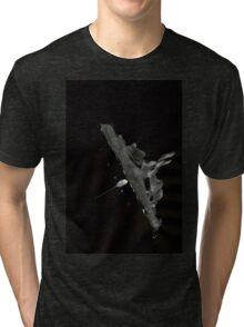 0029 - Brush and Ink - Human Glide Tri-blend T-Shirt