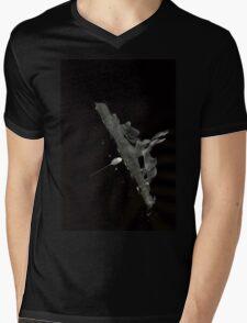 0029 - Brush and Ink - Human Glide Mens V-Neck T-Shirt