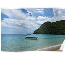 Beach of Anse d'Arlet & Fishermen Boats - Martinique, F.W.I. Poster
