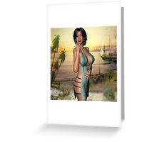 """Let's walk on the beach..."" Greeting Card"